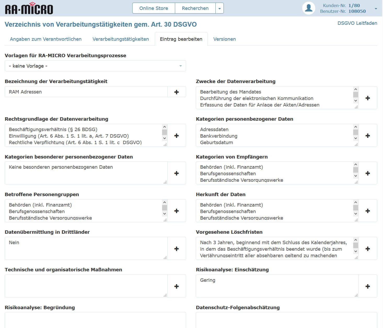 Ra Micro Unterstutzt Beim Datenschutz Verarbeitungsverzeichnis
