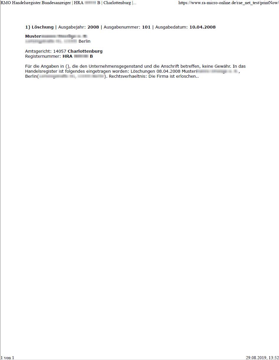 Ra Micro Software Ag Online Recherchen Musterauskunfte